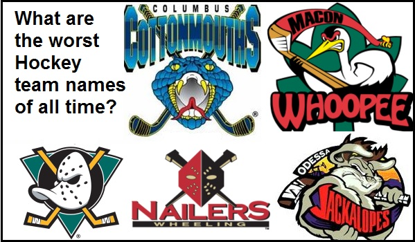 Funny hockey team names
