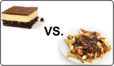 Poutine vs Nanimo Bars