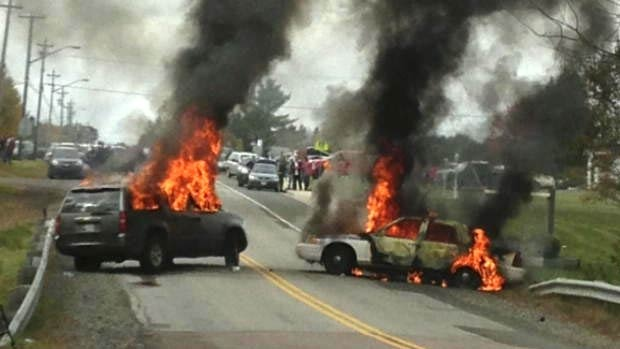 Rexton, NB protests turn violent
