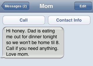 "10 (plus a few) Awesome ""Mom"" Texts"